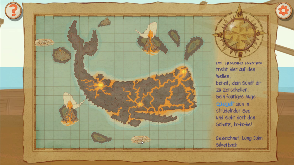 Screenshot of the game Monkey Swag,  showing a puzzle map