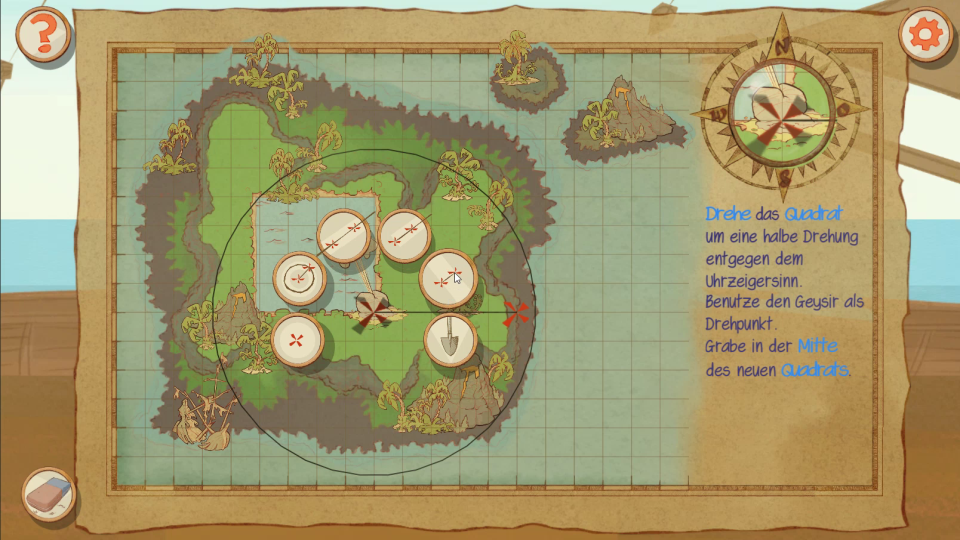 Screenshot of the game Monkey Swag,  showing a puzzle map and the context menu
