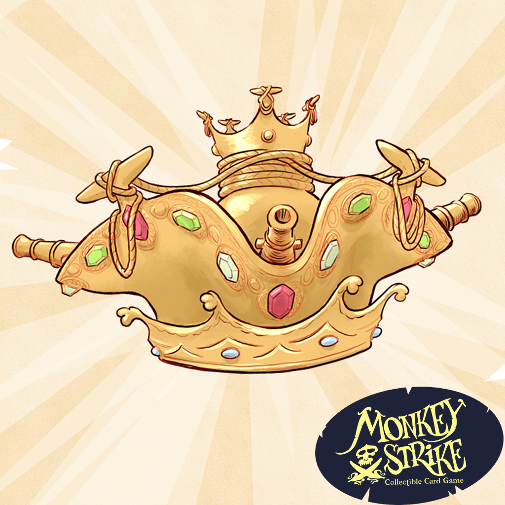 A picture of a golden pirate crown