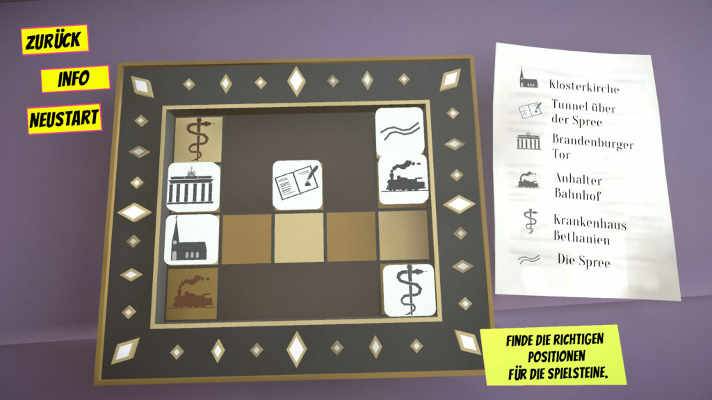 """A screenshot of the game """"Theodor"""" showing a sliding tile puzzle."""